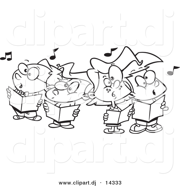 choral singing coloring pages - photo#10