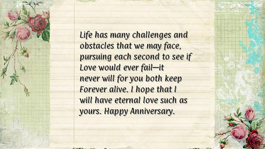 Quotes For Parents Anniversary Card Quotesgram
