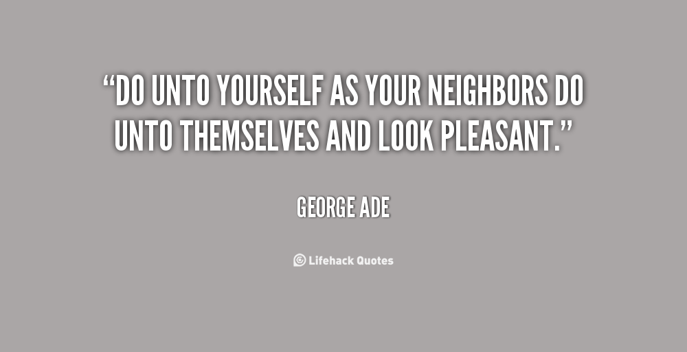 Love thy neighbor scene 1 - 1 3