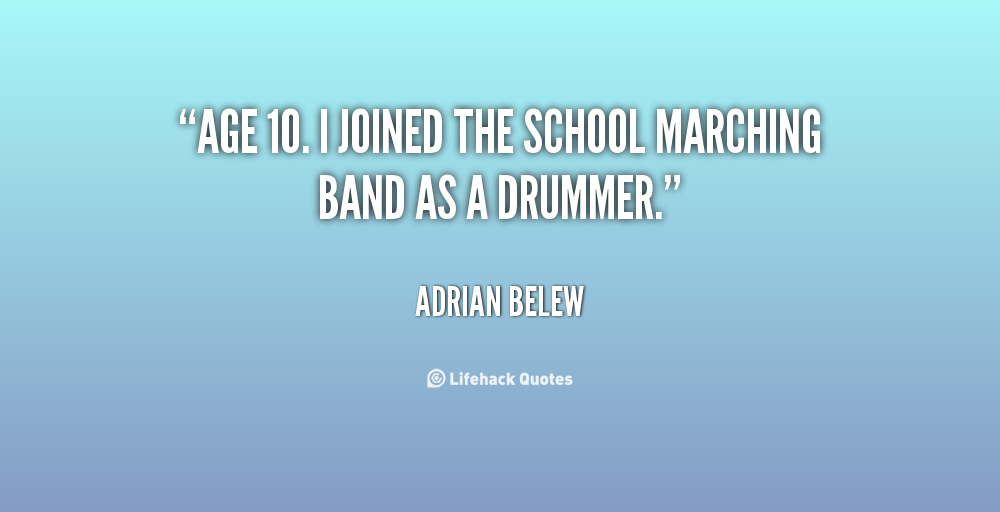 Famous Marching Band Quotes Quotesgram