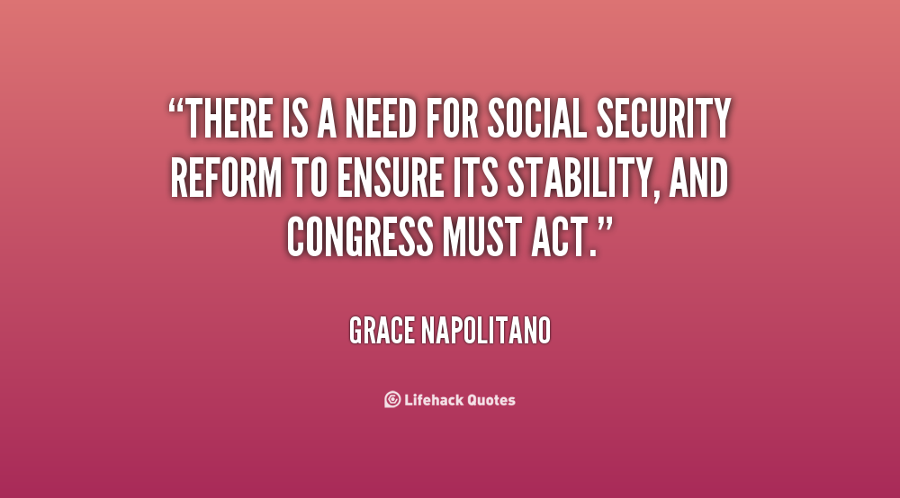 social security needs reform essay Disability insurance needs reform  tightened oversight of di benefits — the social security disability benefits reform act of 1984 placed greater weight .