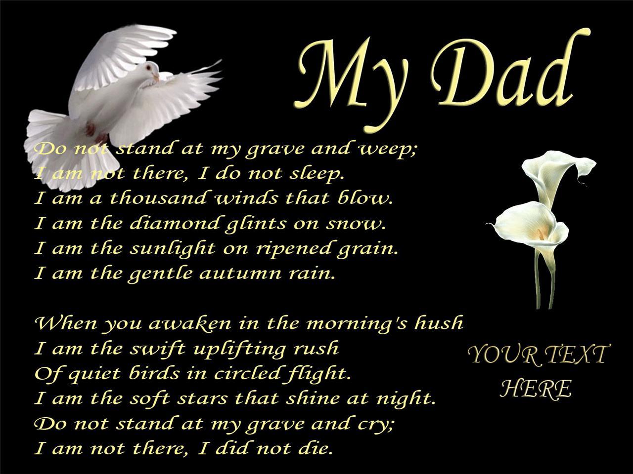 Dad Memorial Quotes Funeral. QuotesGram