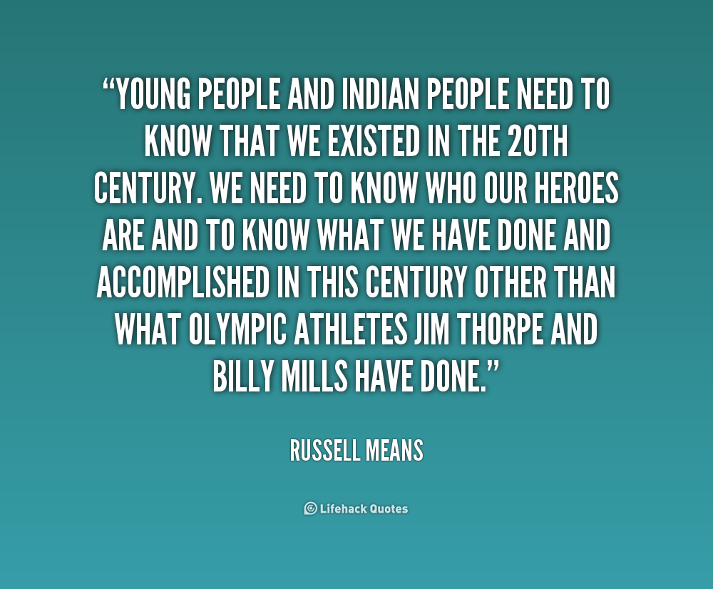 russell means quotes  quotesgram