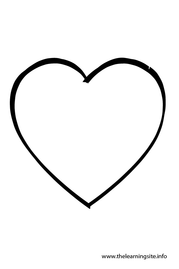heart shape coloring pages | Shape Outlines For Quotes. QuotesGram