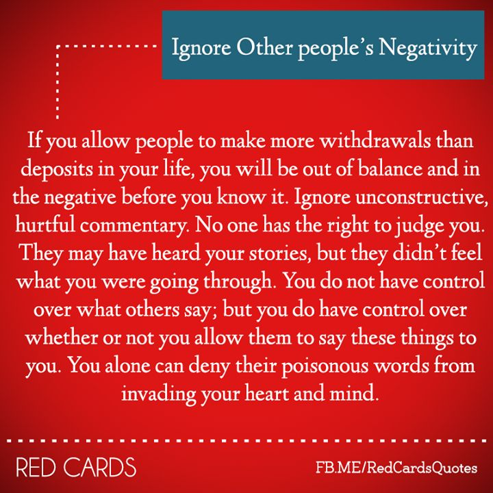 the negativity of ignoring Find and save ideas about ignore people quotes on pinterest | see more ideas about ignore negativity, quotes for negative people and negative people.