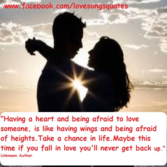 Afraid Of Love Quotes: Being Scared Quotes. QuotesGram
