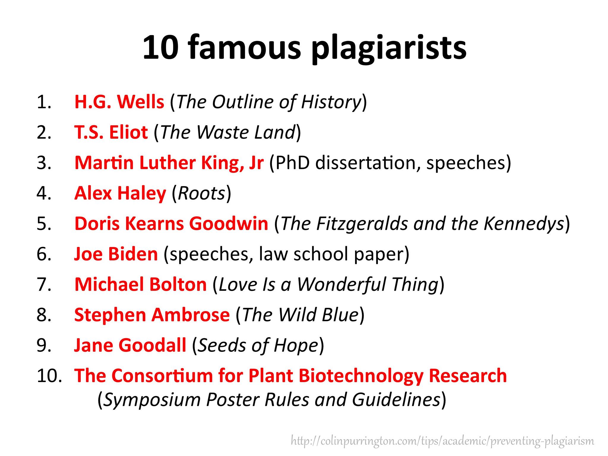 Ways people plagiarize