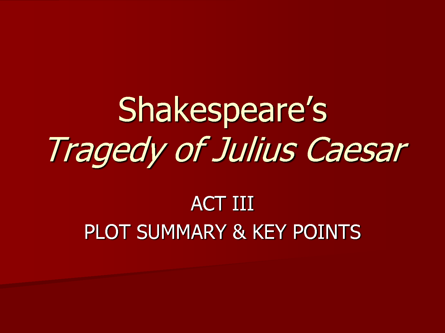 an analysis of the tragedy of julius caesar This resource is an introduction to william shakespeare's tragic play, the tragedy of julius caesar, through the study of universal themes using multiple-perspective investigations of betrayal scenarios.