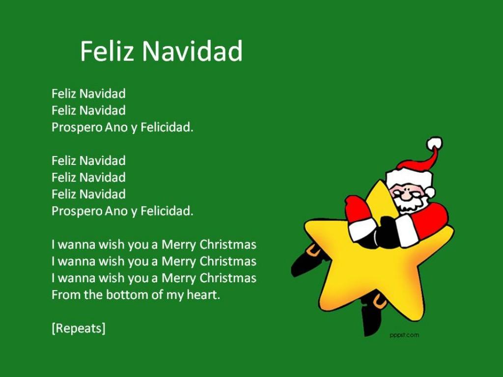 It's just a photo of Striking Feliz Navidad Lyrics Printable