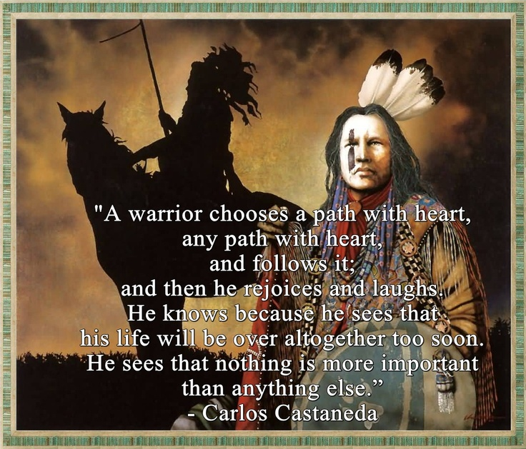 Best Motivational Quotes For Students: Carlos Castaneda Quotes Heart. QuotesGram