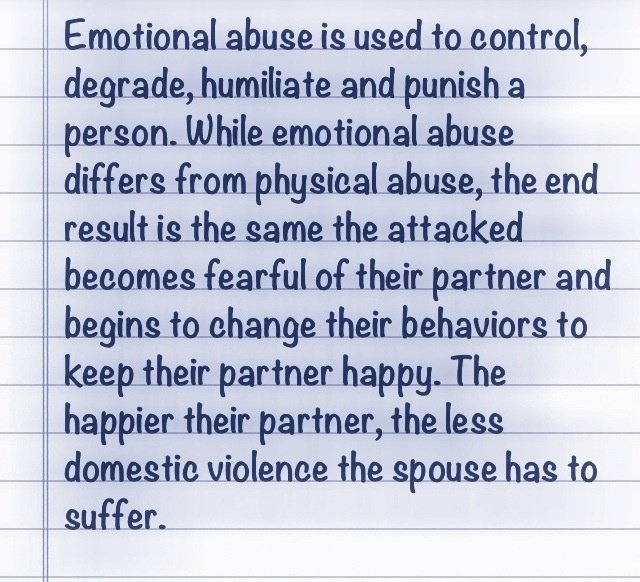 Emotional dating abuse