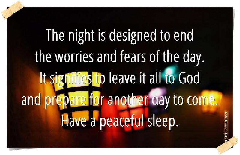Love Life Quote Peaceful Night Sleep Q...