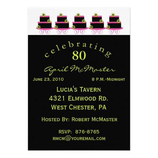 Quotes For 80th Birthday Invitation Quotesgram