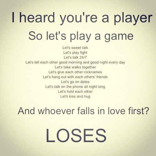Game Of Love Quotes: First Game Quotes. QuotesGram