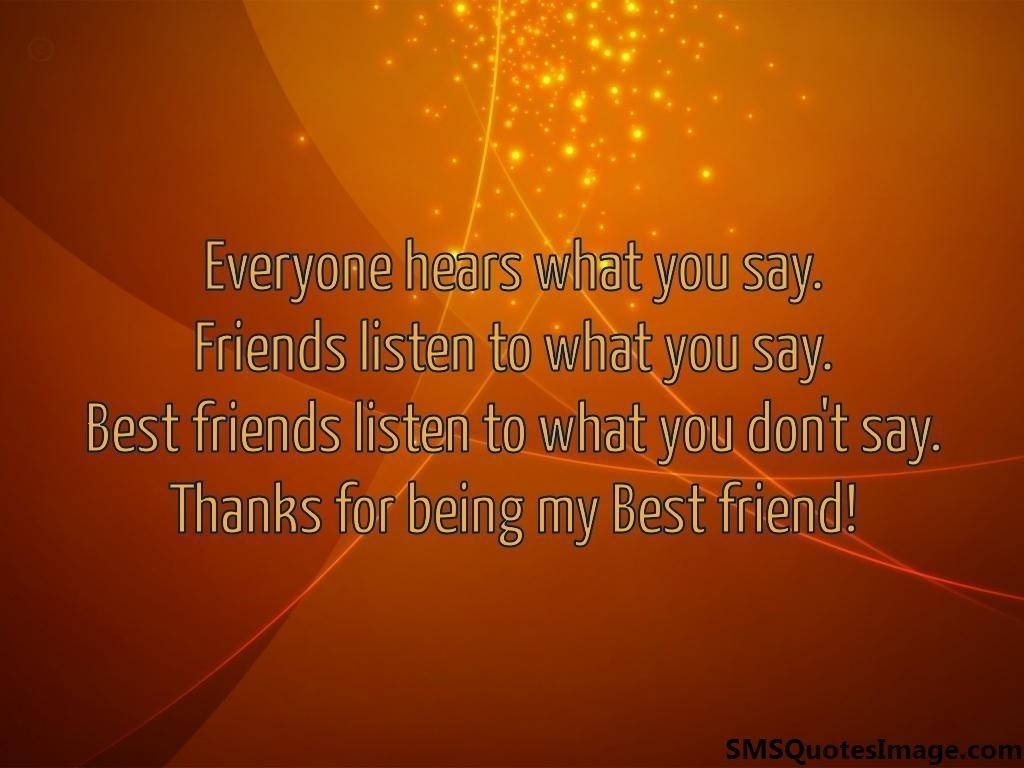Best Thanks Quotes: Thanks For Being My Best Friend Quotes. QuotesGram