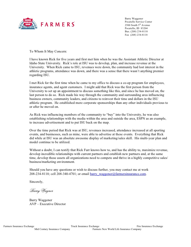 reference letter for business relationship quote