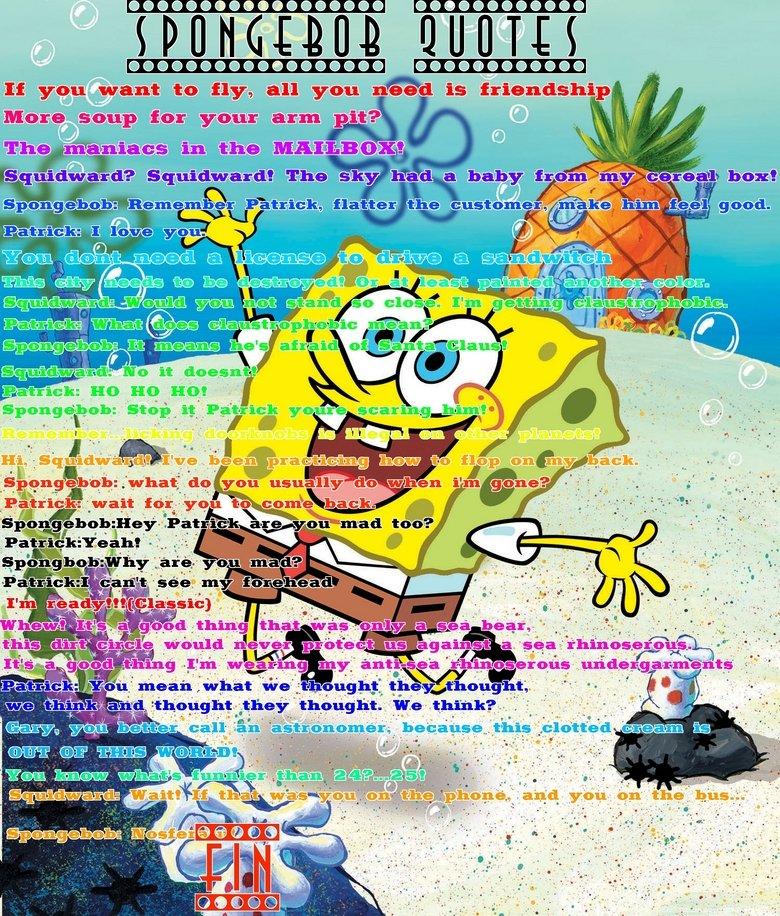 Spongebob Quote Pictures: Spongebob Famous Quotes. QuotesGram