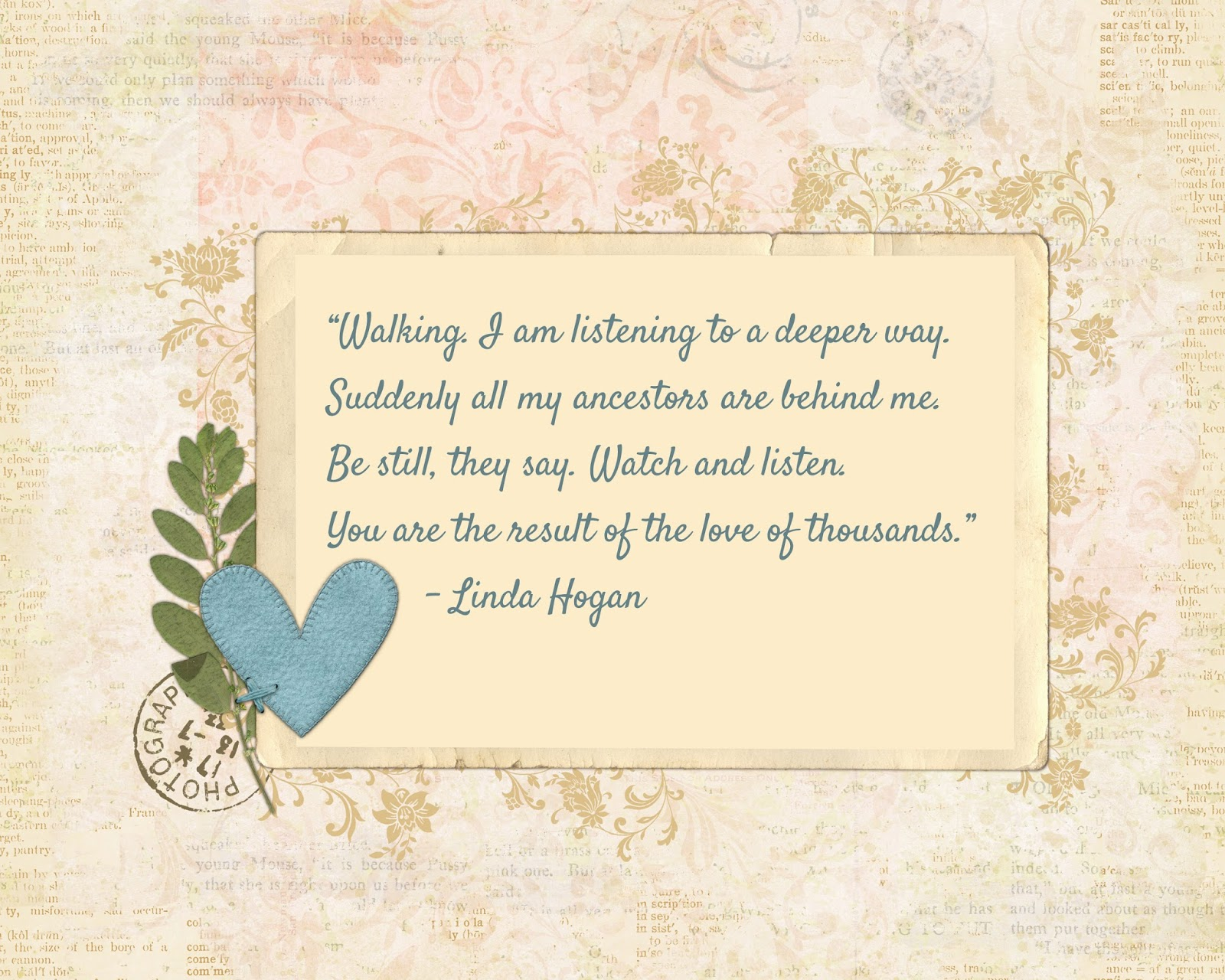 walking linda hogan essay Questions: dwellings by linda hogan in the spirit of hogan's essay how do these paths affect the very nature of our walking.