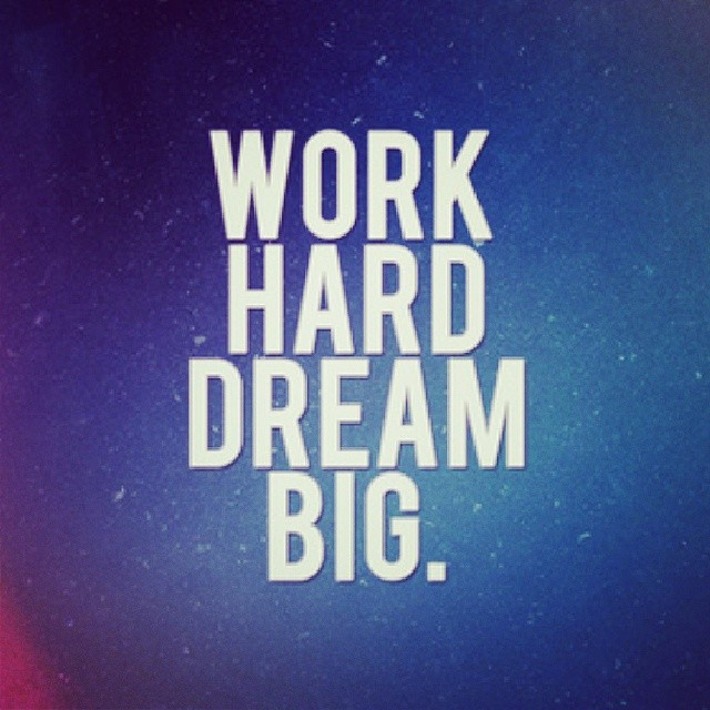 Inspirational Positive Quotes For Work: Dream Hard Work Quotes Inspirational. QuotesGram