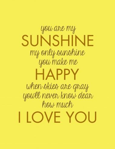 Sun Shine You Are Quotes. QuotesGram  Sun Shine You A...