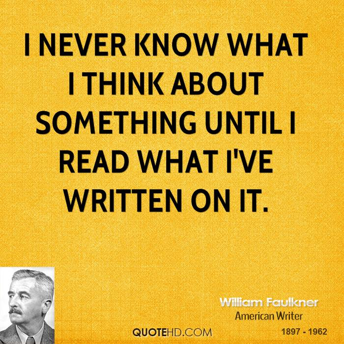 compare william faulkner and ernest hemingway style of writing History plays an influential role in the writings of hemingway and faulkner  ernest hemingway and william faulkner  hemingway's writing style .