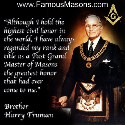 Harry S Truman Quotes: Famous Quotes Famous Freemasons Masonic. QuotesGram