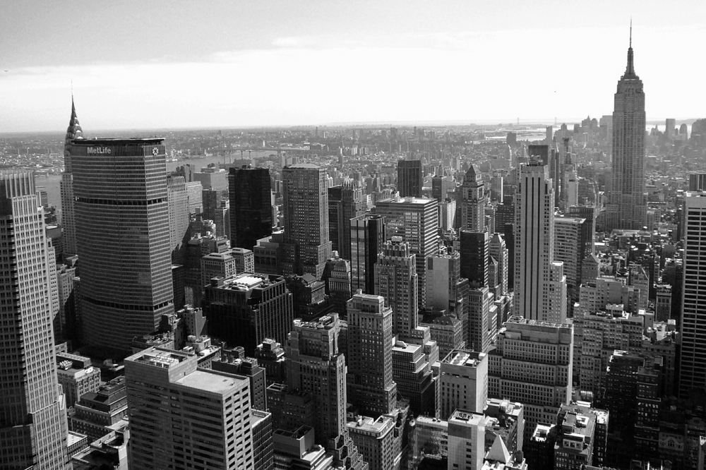 New York City Buildings Black And White
