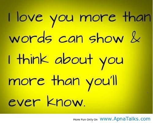 I Love You 2 Quotes : Love You More Than You Know Quotes. QuotesGram