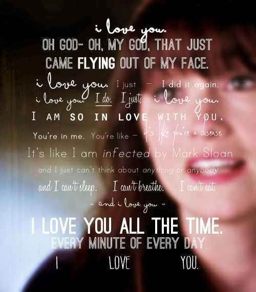 I Love You Quotes: Mark Sloan Quotes. QuotesGram