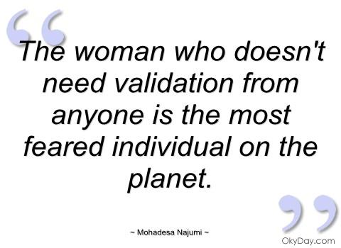 needing validation in a relationship
