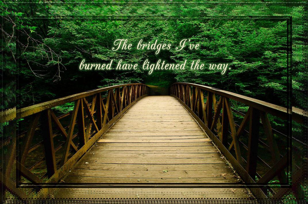 Burnt Bridges Quotes Quotesgram