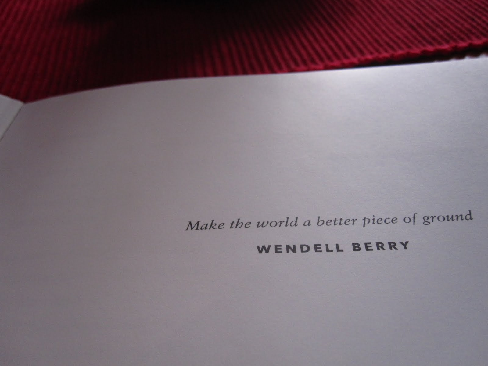 Wendell Berry Quotes On Food Quotesgram