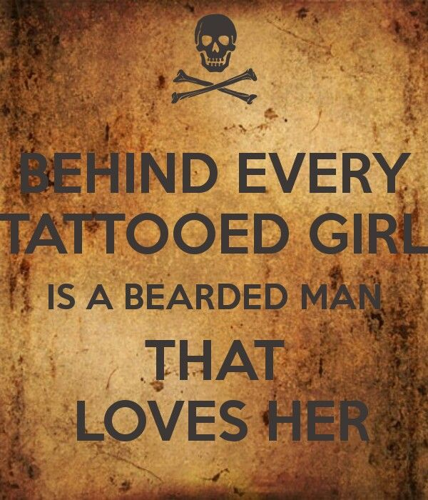 Couple Tattoos Quotes Quotesgram: Beards And Tattoos Quotes. QuotesGram