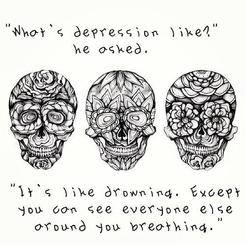 Depression Quotes Tattoos Quotesgram: Depression Is Like Quotes. QuotesGram