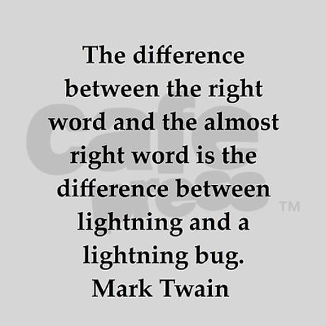 mark twain on writing In honor of mark twain's birthday, here's a piece of writing advice from a letter he wrote to a student named dw bowser.