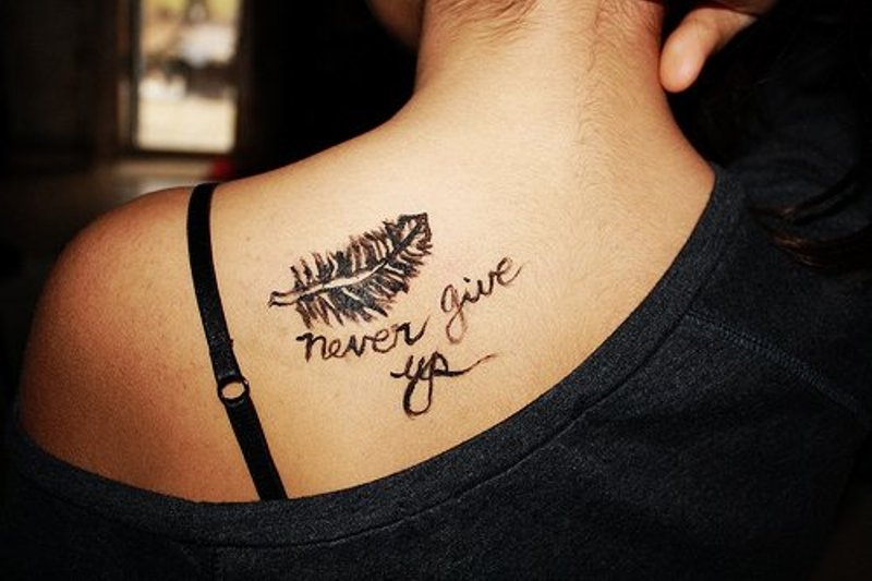 Ideas For Girls Tattoo Quotes: Cute Tattoo Quotes For Girls. QuotesGram