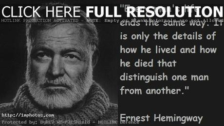 ernest hemingways obsession for violence and death Ernest hemingway's writing style 1703 words | 7 pages earnest hemingway's is one of the greatest writers in american history recognized by the pulitzer prize for literature in 1952 and nobel prize in literature in 1954, stated oliver.