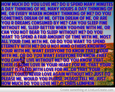 I love u do u love me