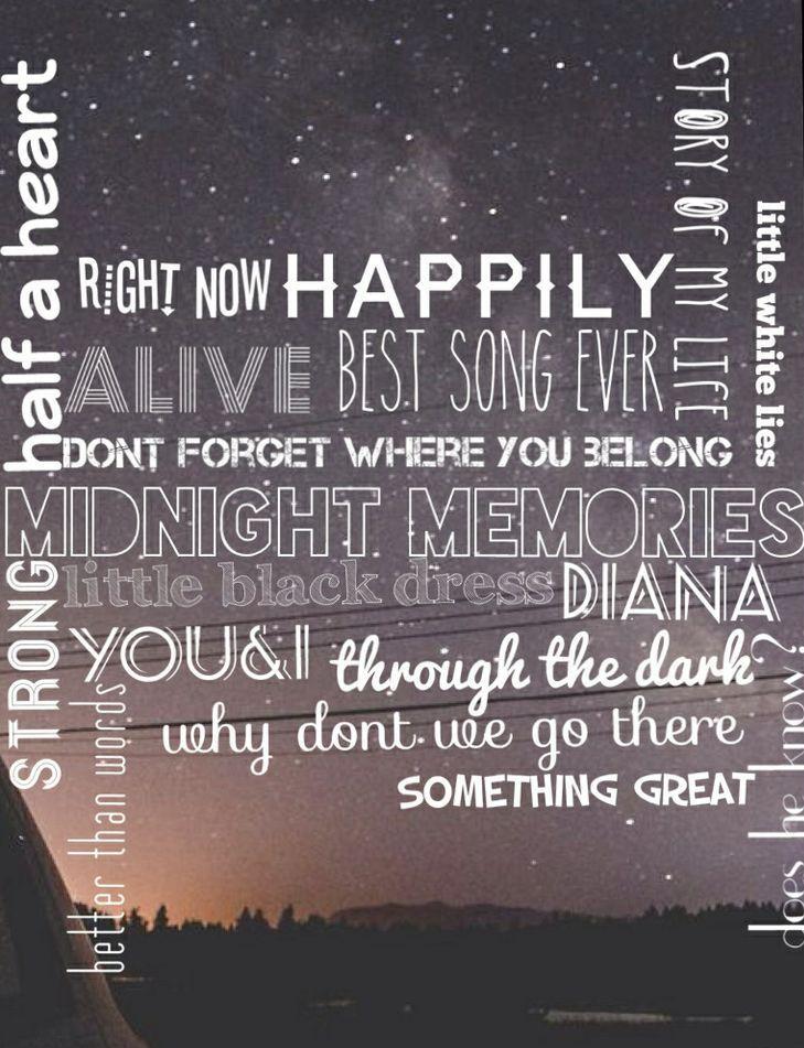 Diana, One Direction ♥ Midnight Memories | via Tumblr ... |One Direction Song Quotes Midnight Memories