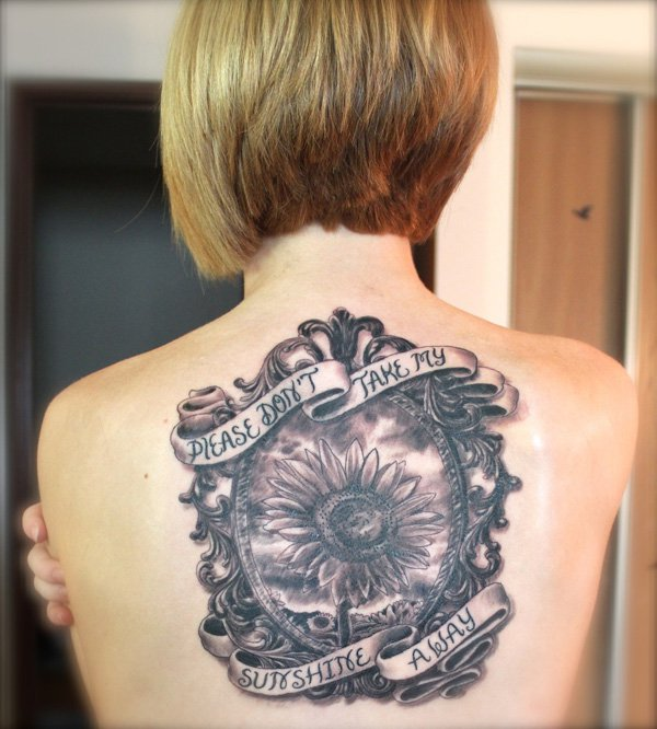 Flower Tattoos Quotes And Sayings Quotesgram: Sunflower Tattoos With Quotes. QuotesGram