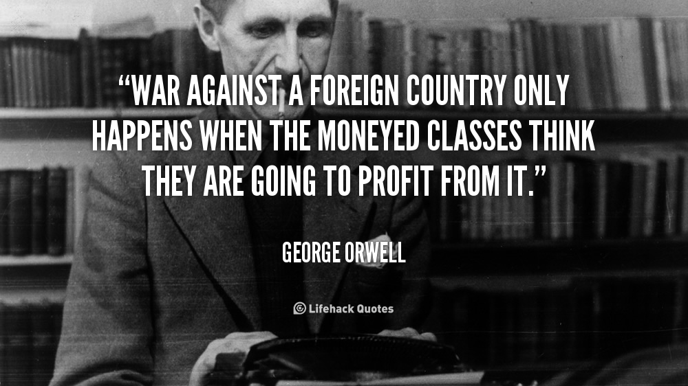 George Orwell War Quot...