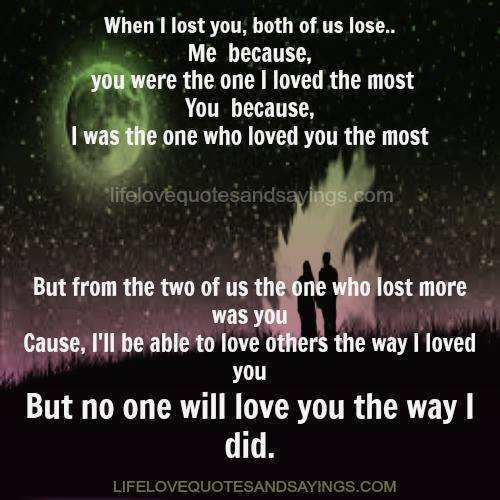 No Love Lost Quotes. QuotesGram