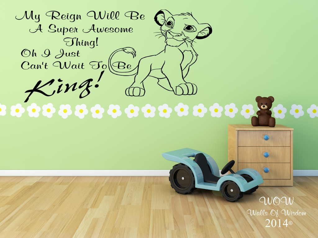 Simba wall decals quotes quotesgram for Wall mural quotes