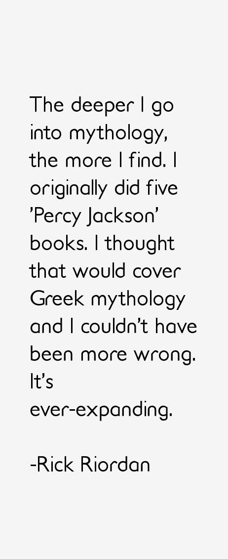 Rick Riordan Quotes. QuotesGram