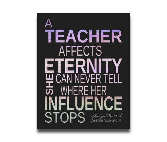 teacher affects eternity essay About the series episode1: a teacher affects eternity episode2: those who canteach episode3: educating to end inequity good teachers to me are like poets and saints -- spaldin.
