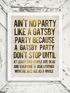 gatsby party quotes - photo #1