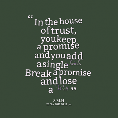 Quotes About Keeping Promises