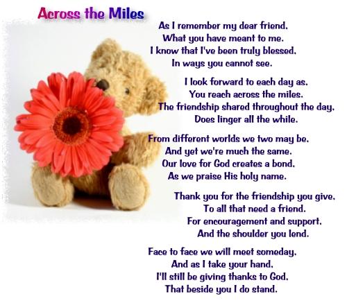 Across The Miles Friendship Quotes. QuotesGram