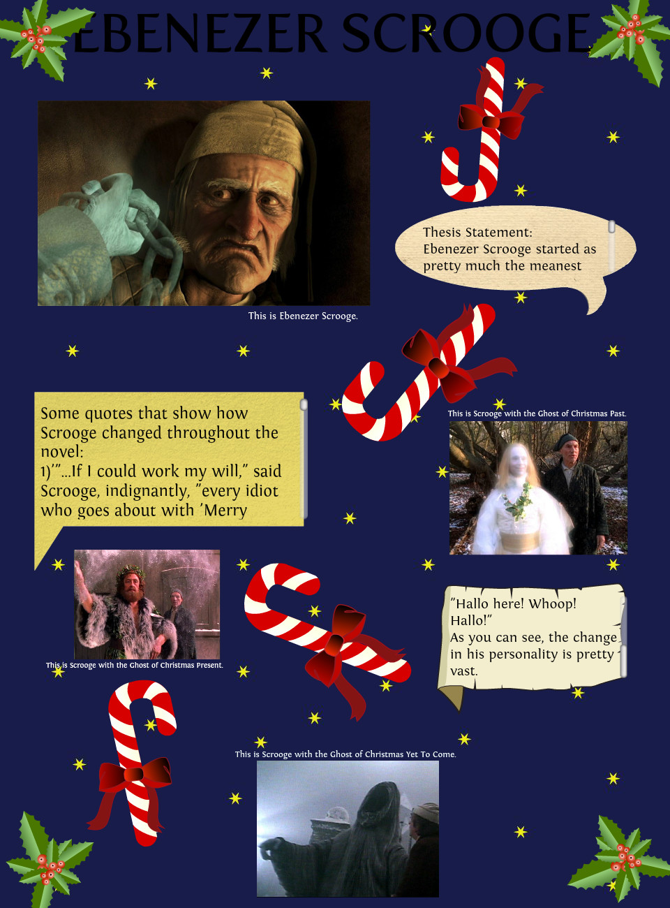 personality of scrooge essay