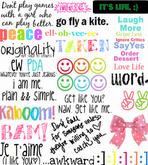 Colorful Cute Inspiring Quotes Quotesgram